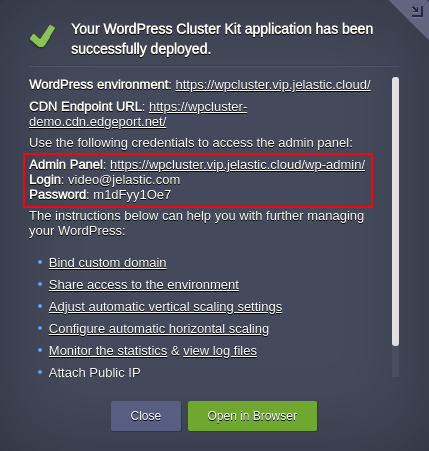 WordPress deployment